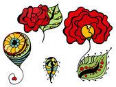 egyszerű virágos rajzok