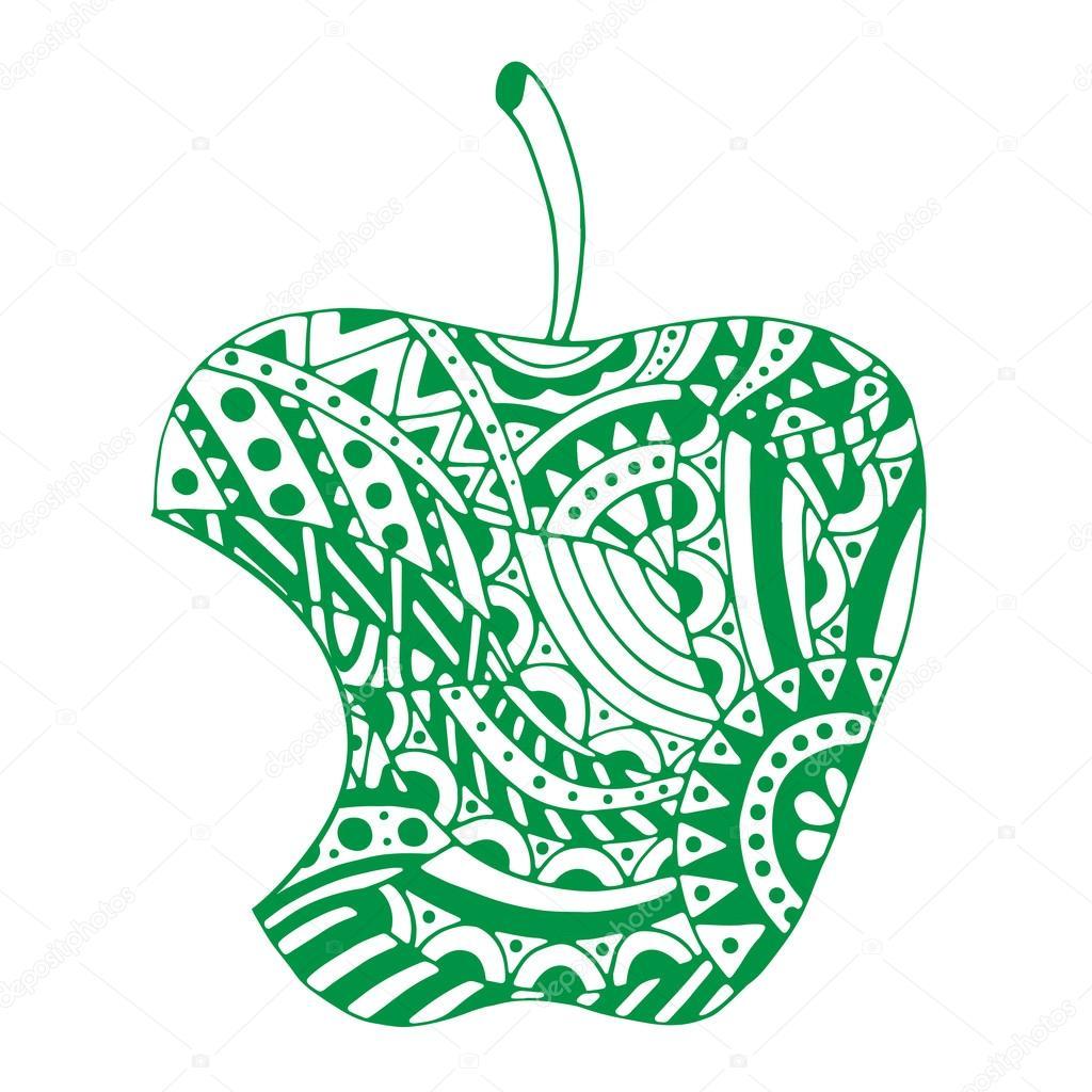 Imágenes Manzanas Mordidas Para Colorear Manzana Mordida Sobre