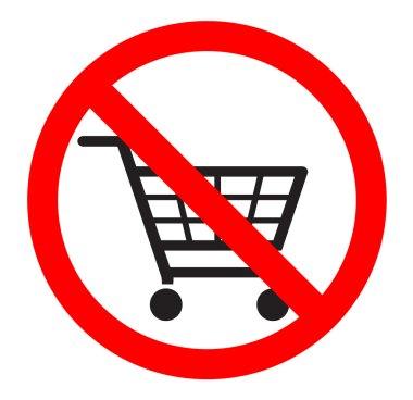 no shopping carts icon , sign