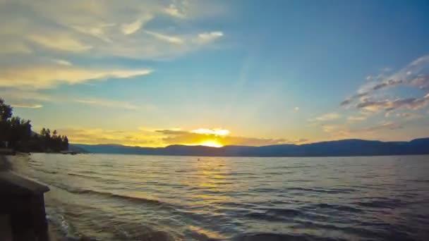 beautiful Lake side Sunset