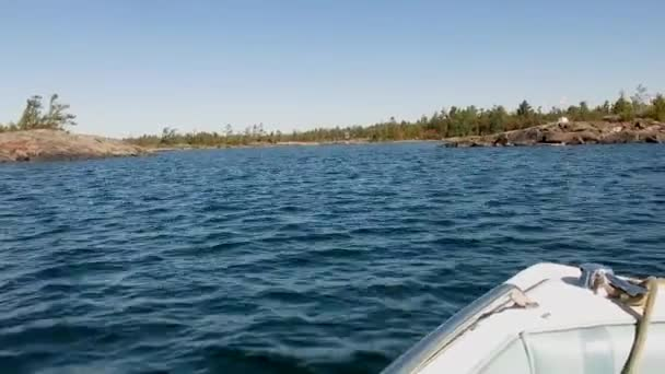 Amazing nature view from moving motorboat