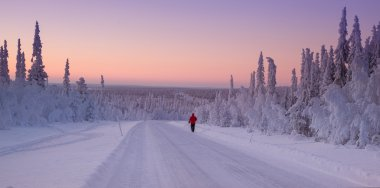 Snowy landscape from Finland, Lapland
