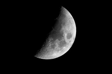 Half earth moon with craters