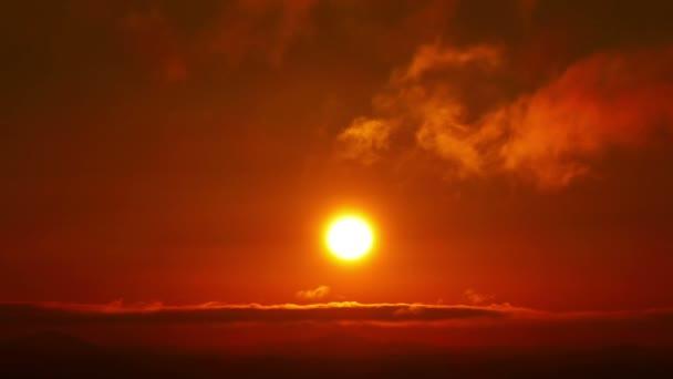 Zakalená oranžové slunce