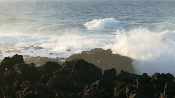 Atlantic Ocean Breaking onto Rocks