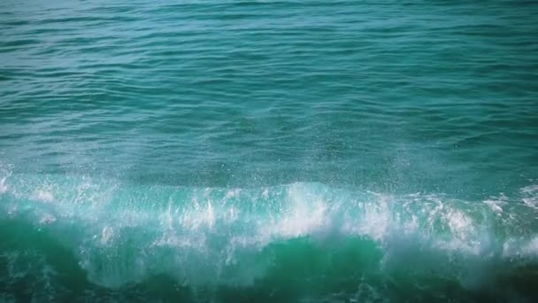 Slow motion Ocean Waves Breaking on Shore