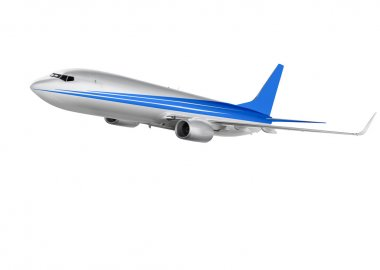 Cargo plane on white background with clipping path stock vector