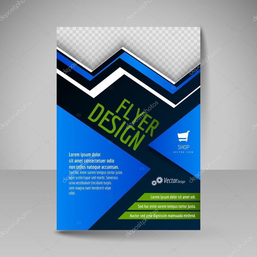 editable a4 poster for design presentation magazine cover bus