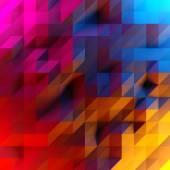 Abstraktní pozadí nízkých poly trojúhelníků. 3D vykreslování obrazu