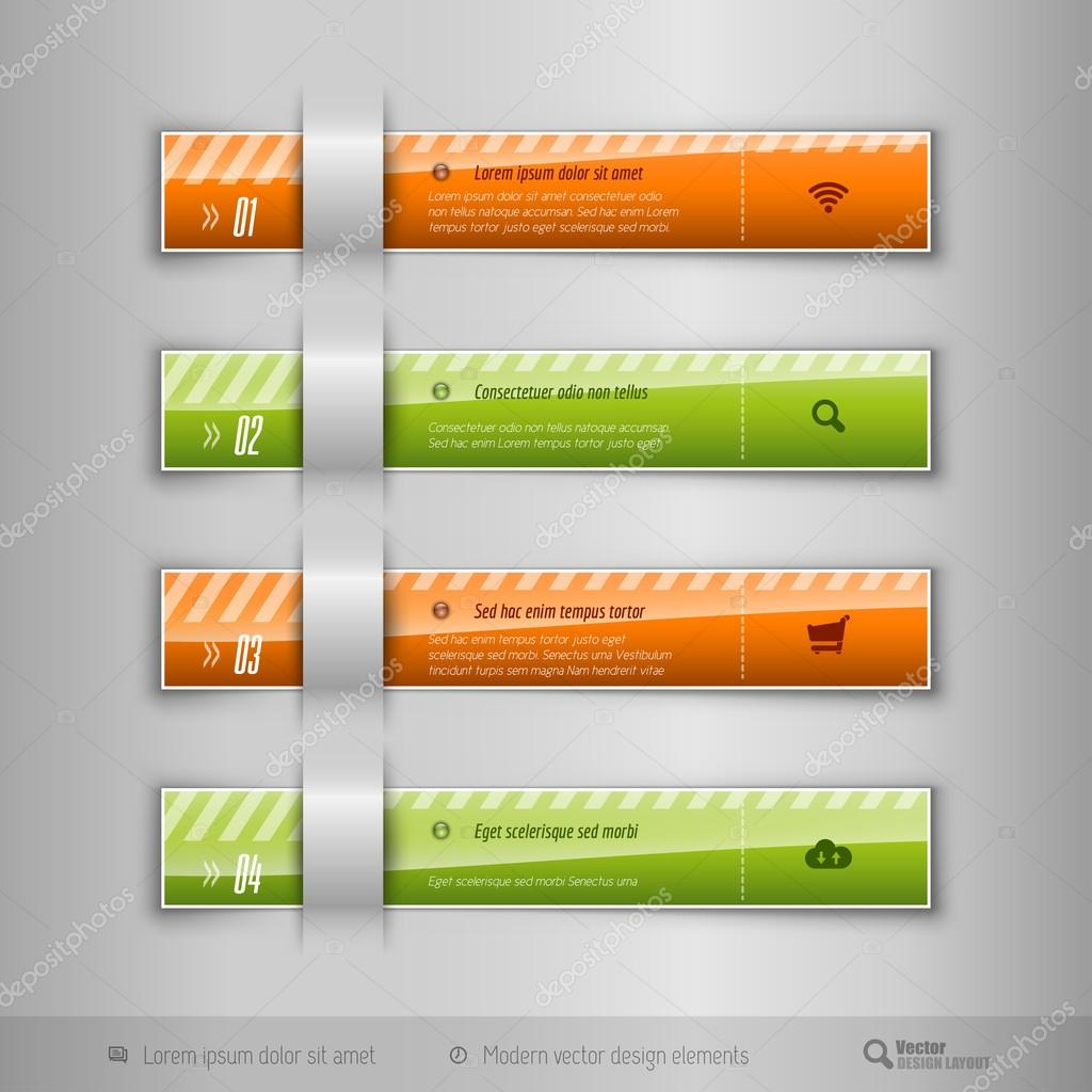 Modern business tabs - infographics - template for web design or