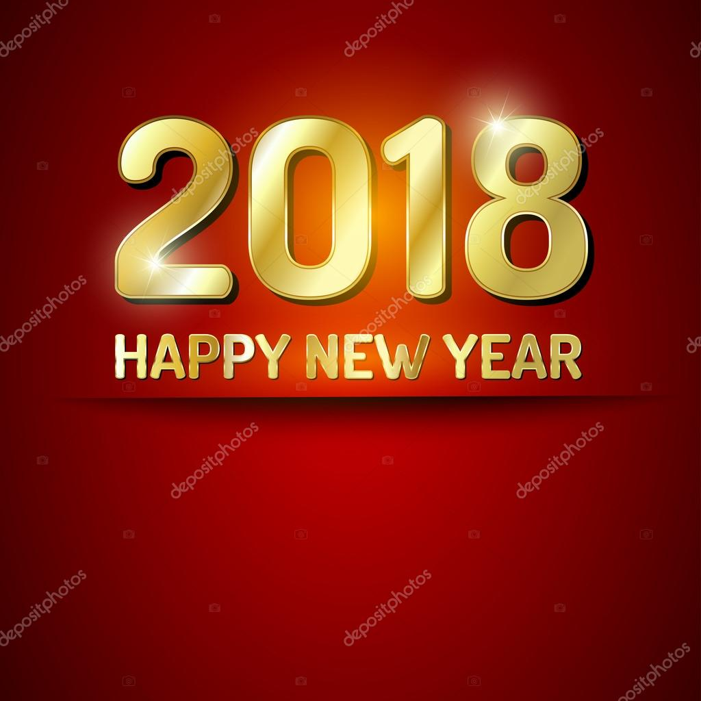 happy new year 2018 greetings card stock vector