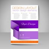 Rozložení stránky pro design - leták