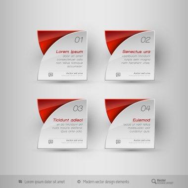 Business infographics template. Vector design elements.