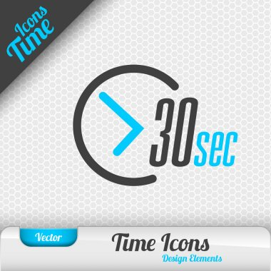 Time Icon 30 Seconds Symbol Vector Design Elements