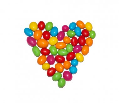 colored sweet heart