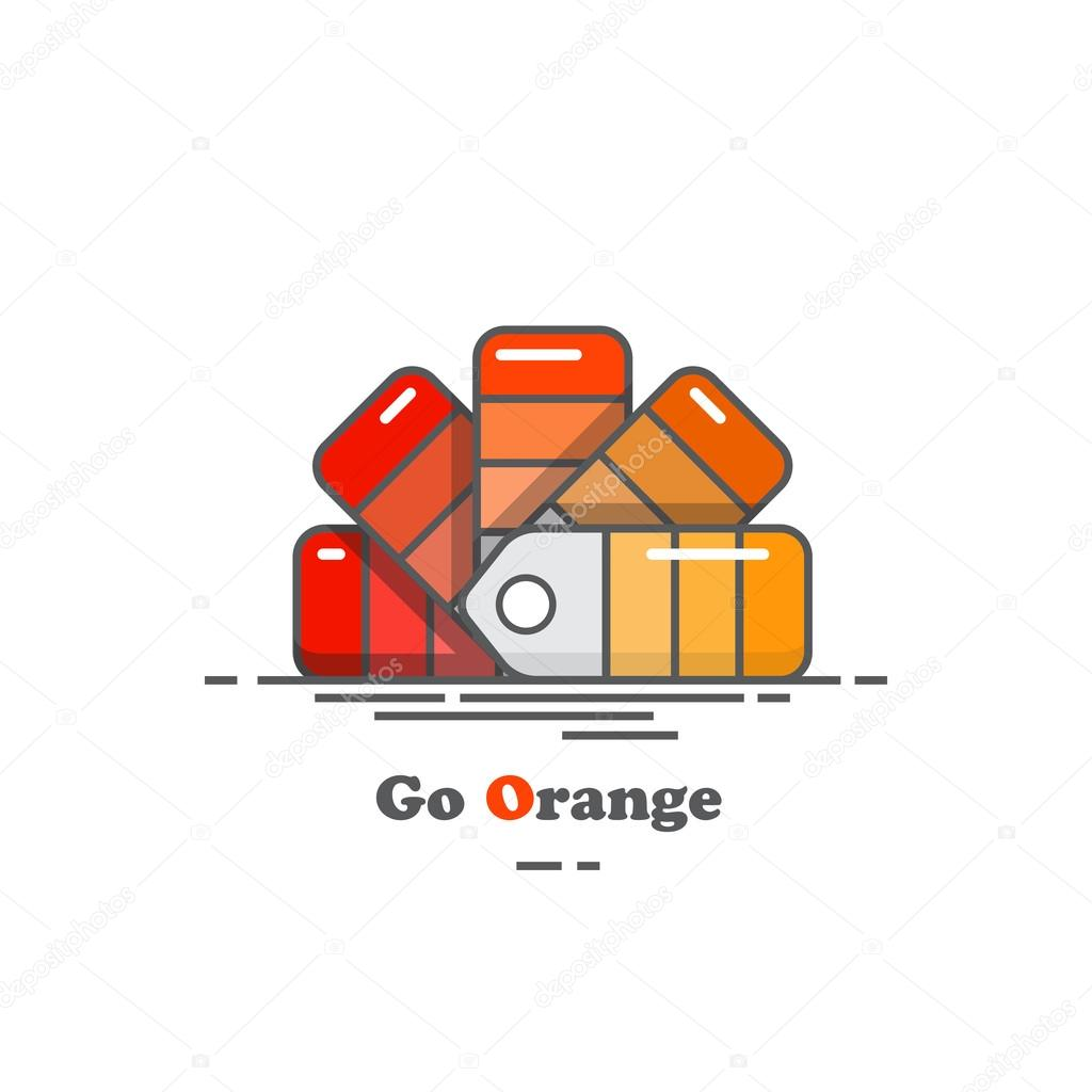 Colour chart in shades of orange stock vector rixipix 99187820 colour chart in shades of orange stock vector nvjuhfo Images