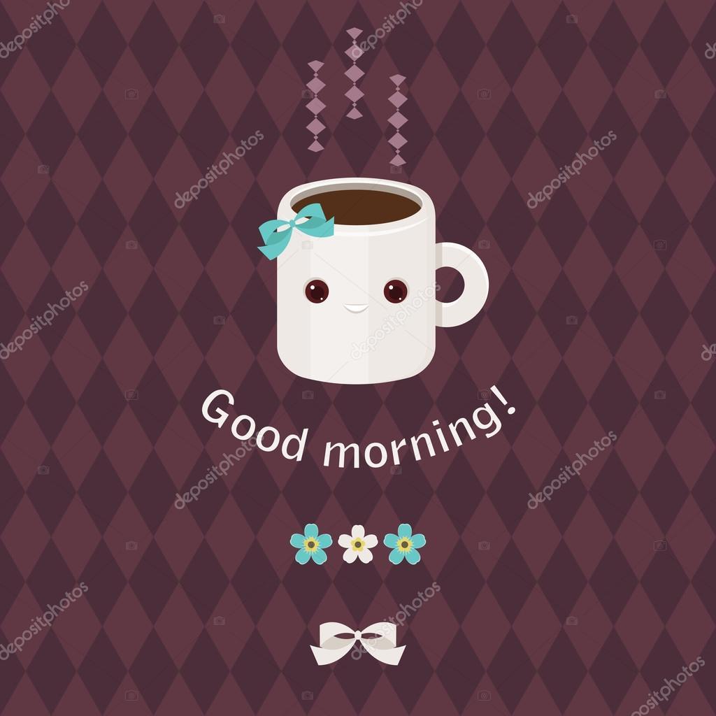 Guten Morgen Schöne Grusskarte Stockvektor Natalie Art