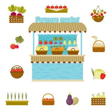 Vector farmers market icons