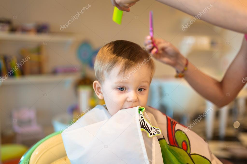 First Baby Boy Haircut Stock Photo Patrykkosmider 112410854