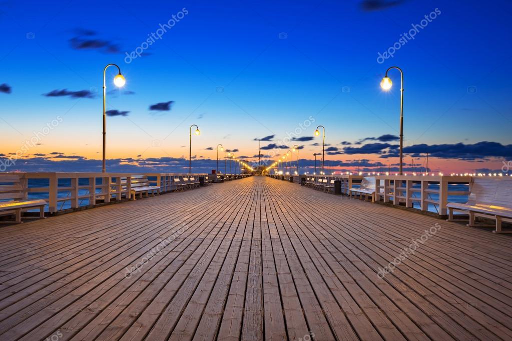 Molo (pier) in Sopot at Baltic sea