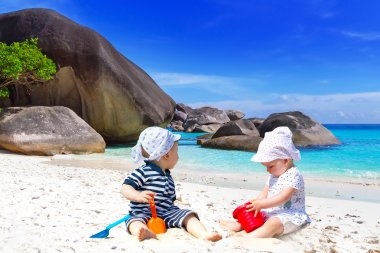 Sun holidays at the tropical beach