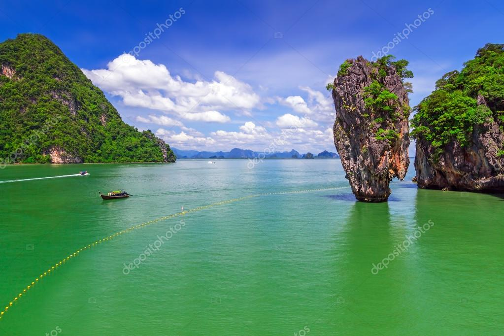 Ko Tapu rock on James Bond Island