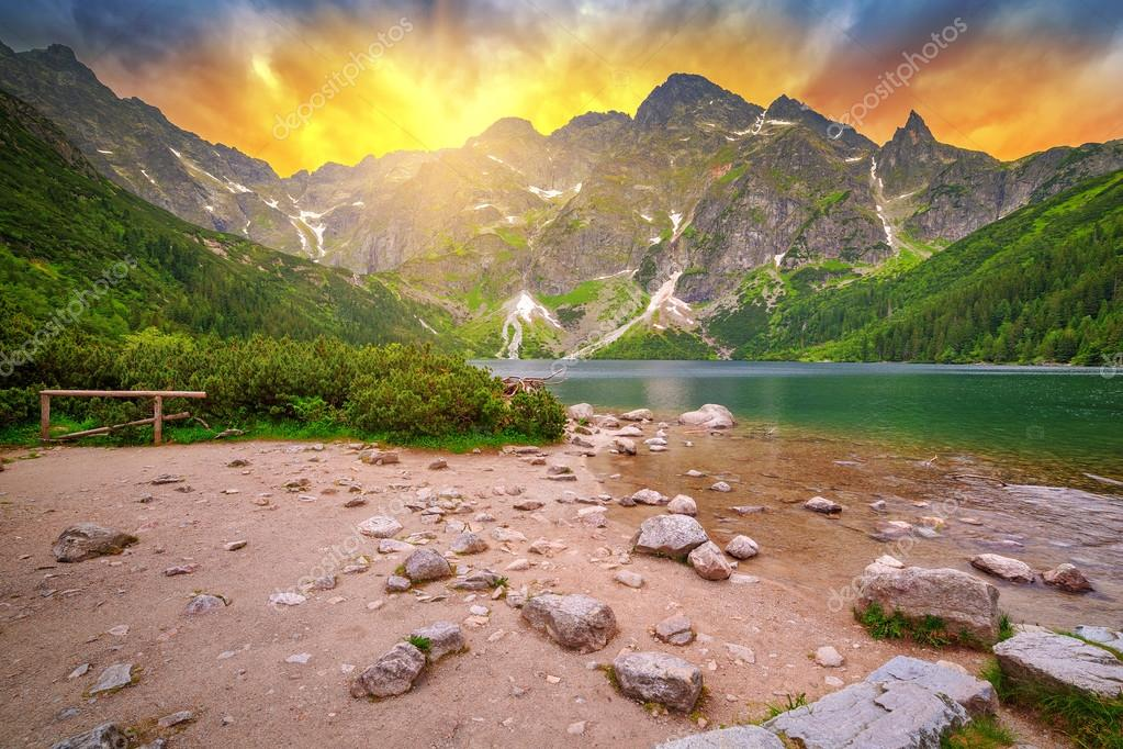 Tatra mountains at sunset, Poland