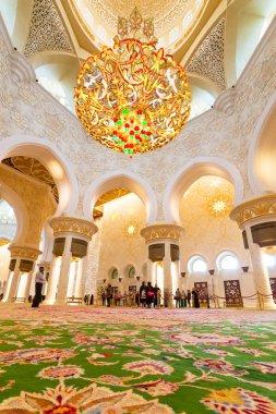 Interior of Sheikh Zayed Grand Mosque in Abu Dhabi