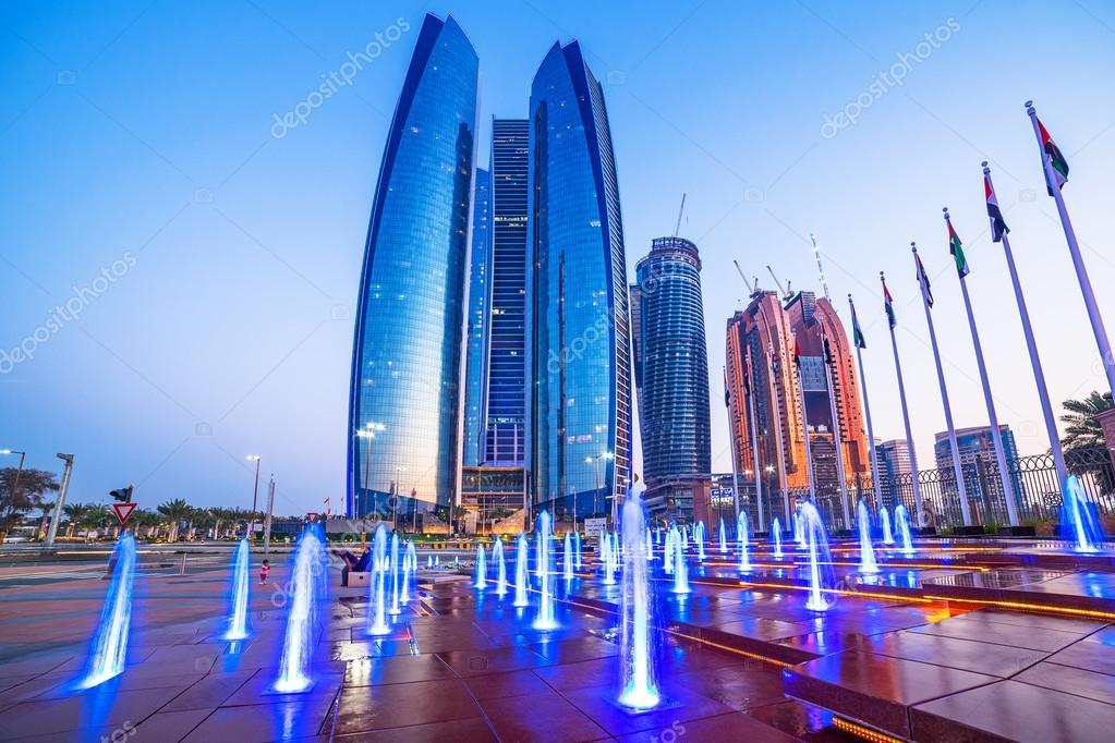 Etihad Towers buildings in Abu Dhabi
