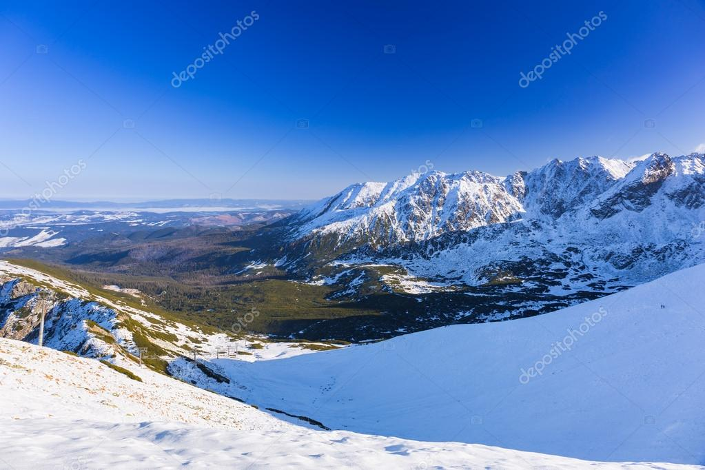 Tatra mountains in snowy winter time, Poland