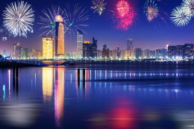 New Years fireworks display in Abu Dhabi