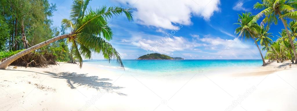 Panorama of the tropical beach