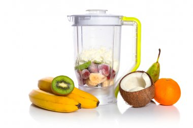 Mixed fruits in blender