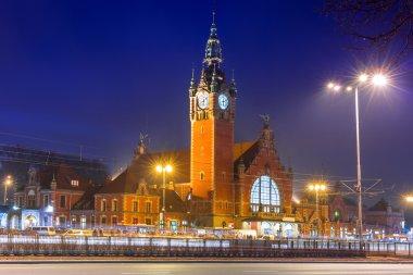 Main railway station in Gdansk, Poland