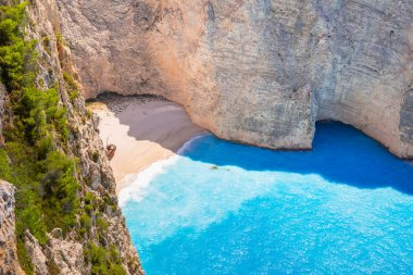 Beautiful Navagio Beach on Zakynthos, Greece