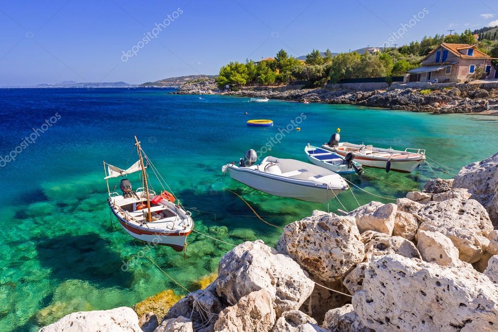 Fishing boats at the coast of Zakynthos