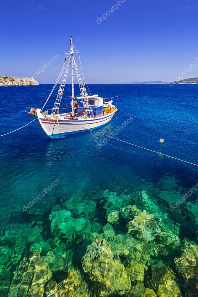 Fishing boats at the coast of Zakynthos