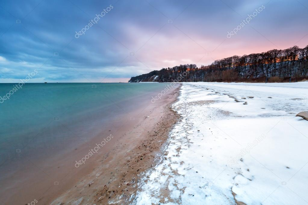 Winter at Baltic Sea in Poland