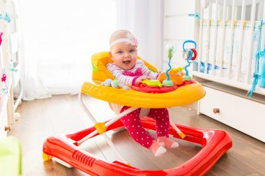 First steps in a baby walker
