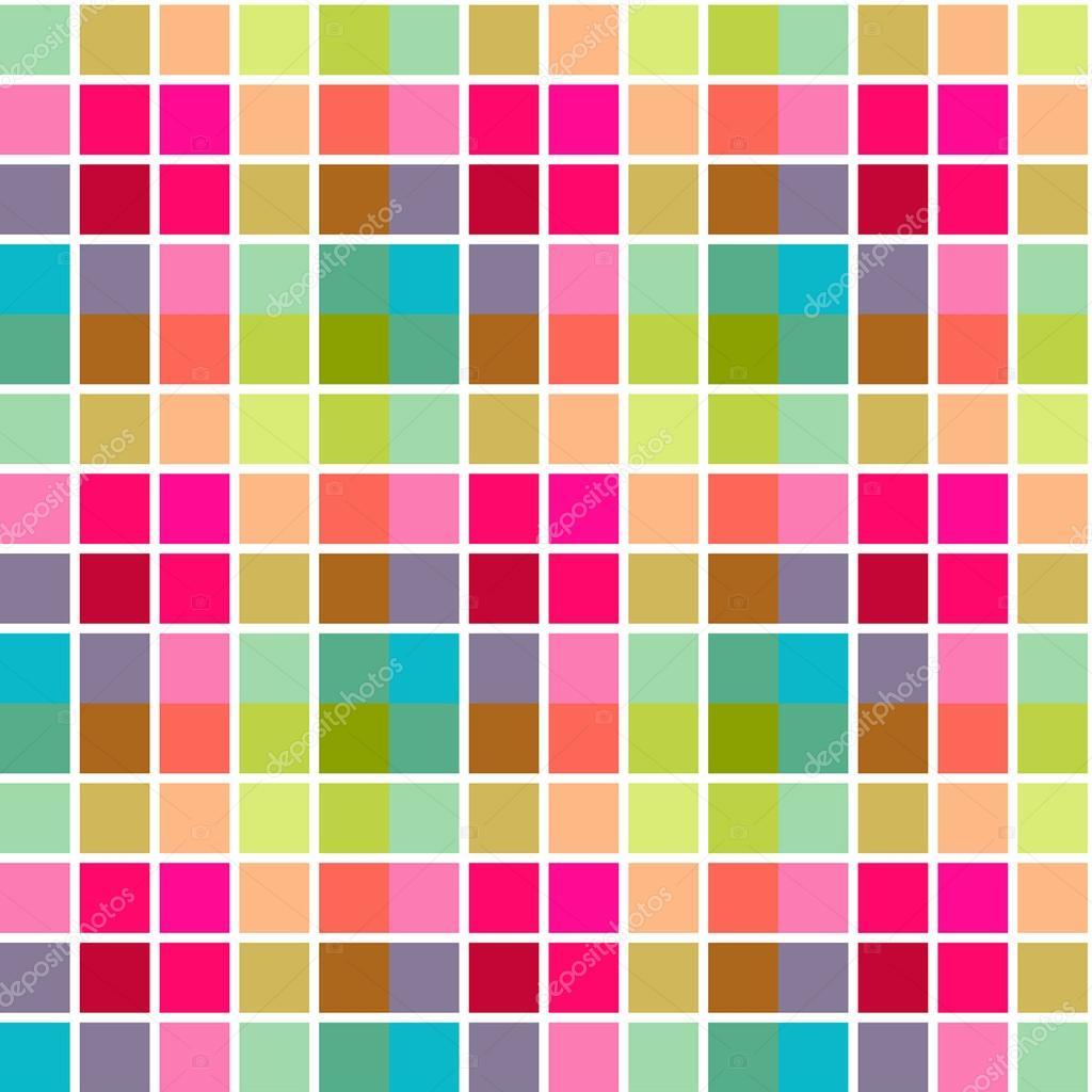 Fondo cuadros con rayas de colores rosas azul y verdes - Cuadros con colores calidos ...