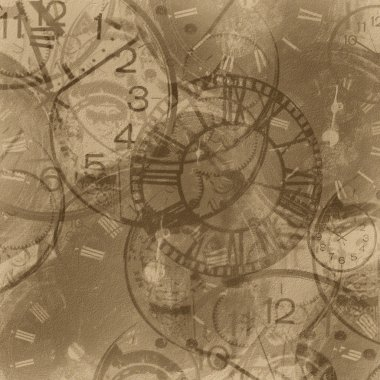 abstract vintage clock background
