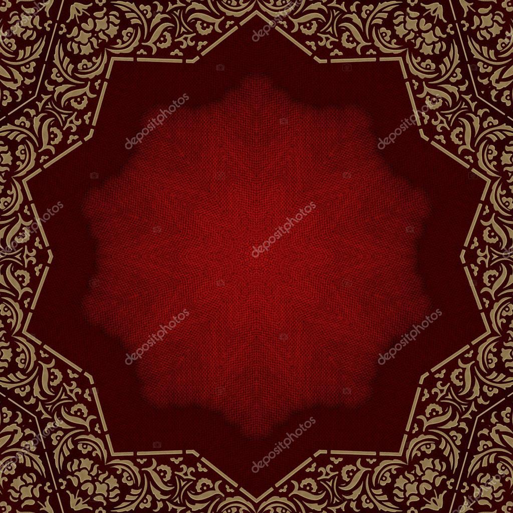 Álbum de fotos-cubierta roja con marco ornamentado oro — Fotos de ...