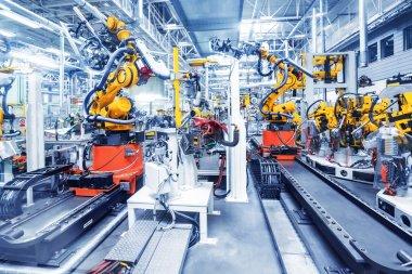 robots in a car factory