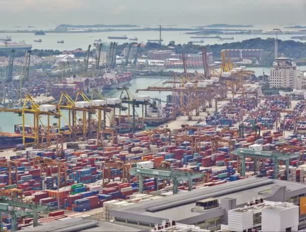 Timelapse of the port of Singapore, 4K