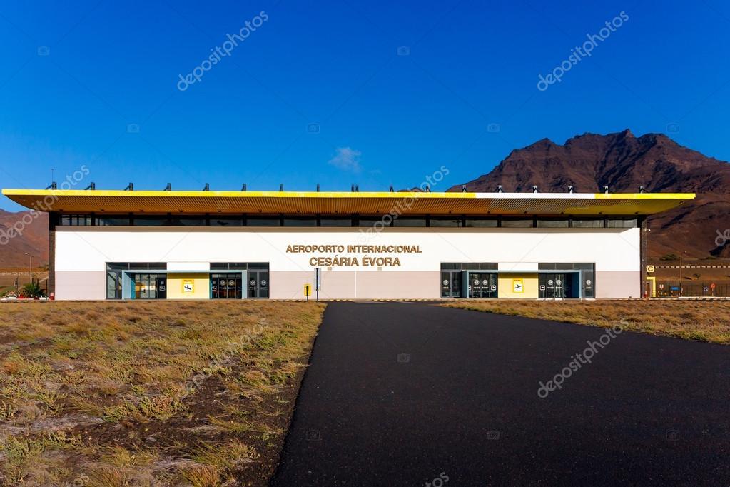 Aeroporto De Cesaria Evora Em Cabo Verde Fotografia De Stock