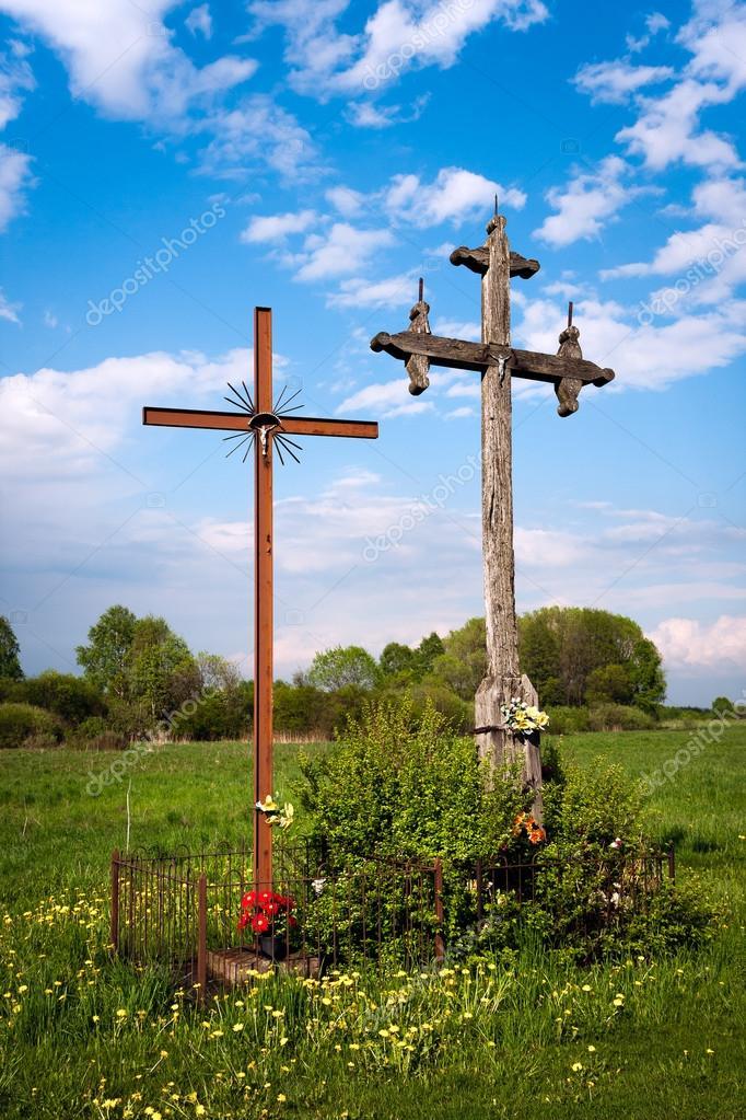 городке превращаются придорожный крест фото правильных руках
