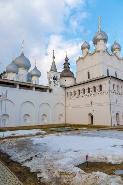 Rostov Veliky, Russia-March 30.2016.  Temples of  Rostov Kremlin, Golden Ring tourist