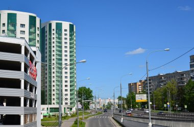 Moscow, Russia - May 13.2016. General view of Zelenograd