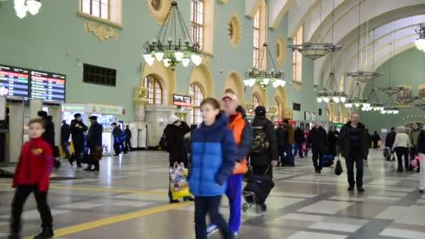 Moskva, Rusko února 18.2016. Interiér Kazaňského železniční stanice. Postaven v roce 1862