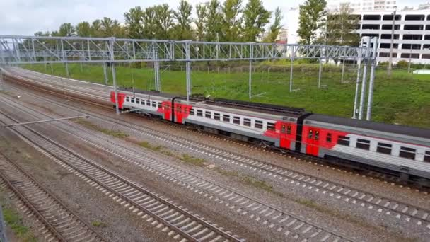 Moscow, Russia - September 24.2016. The train arrives at station Kryukovo in Zelenograd